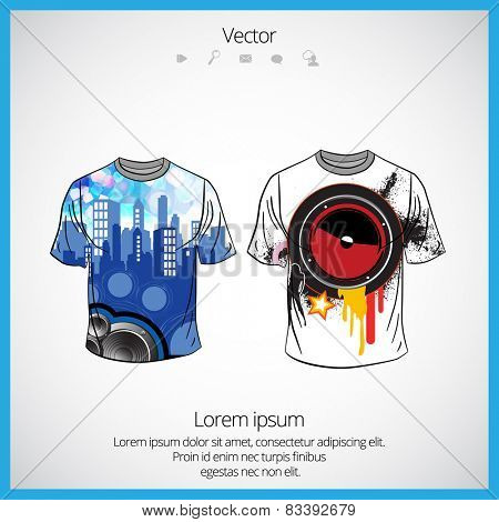 Vector. Man's t-shirt design