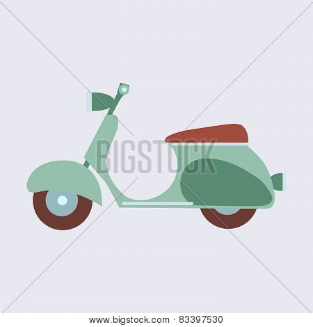 Vintage Scooter On A Neutral Background