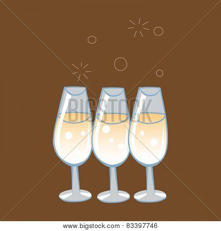 Celebratory Glasses Of Champagne