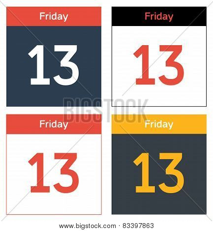 Friday 13Th Calendar Sheets Set
