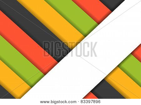 Colorfur Striped Background With One Big White Stripe