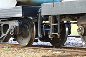 picture of caboose  - Wheel of train or railway - JPG