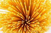 pic of spaghetti  - Uncooked pasta spaghetti macaroni isolated on white background - JPG