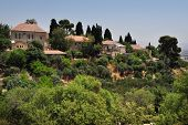 image of cornerstone  - View of Rosh Pinna town located in the Upper Galilee on the Northern District of Israel - JPG