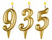Постер, плакат: Candles Number Nine Hundred Thirty five