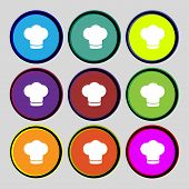 stock photo of chefs hat  - Chef hat sign icon - JPG