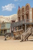 picture of west village  - Detail of an old Far West village - JPG