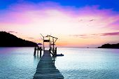 picture of nightfall  - Nightfall by the Sea At the End of the Day  - JPG