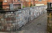 picture of old stone fence  - Kaunas city - JPG