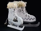 pic of skate  - white ice skate Christmas Ornament Christmas skates - JPG