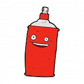 picture of spray can  - retro comic book style cartoon spray can - JPG