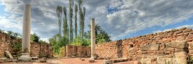 image of cardo  - lower view of Ancient Roman Cardo street - JPG