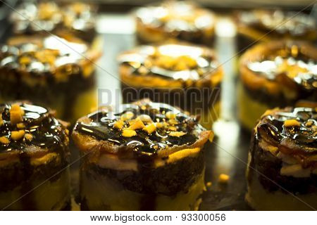 Spanish Cusine Tapas Dishes In Restaurant Cafe