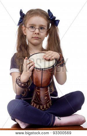 little girl drum