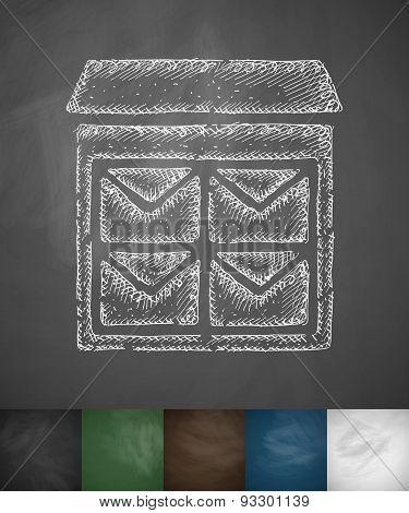 letter-box icon