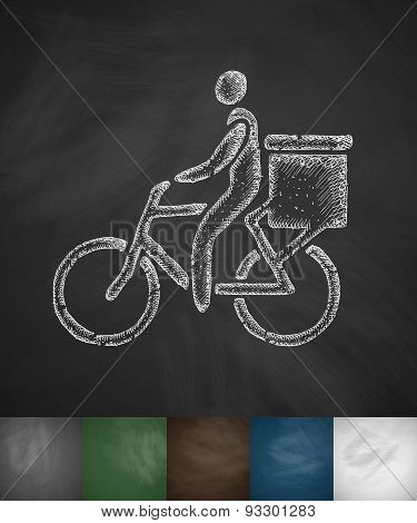 delivery of goods by bicycle icon