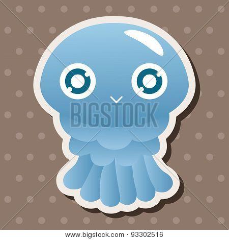 Sea Animal Jellyfish Cartoon Theme Elements