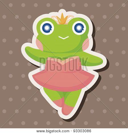 Animal Frog Dancing Cartoon Theme Elements