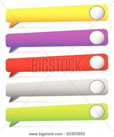 Speech Bubble Banner Background With Circles. Blank Space For Your Message.