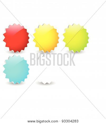 Colorful (long) Button, Banner Backgrounds With Circle. Empty Space For Your Message / Icons, Symbol