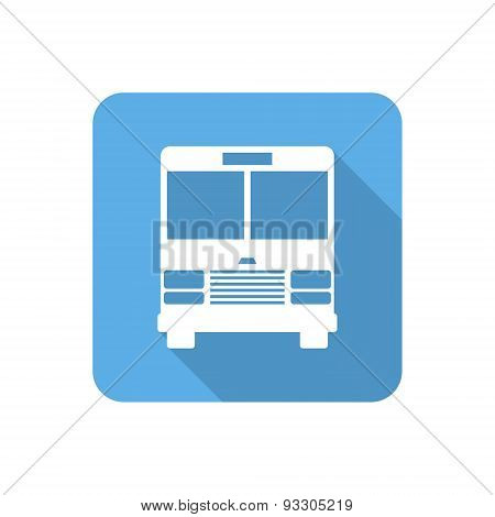 Flat Bus Icon With Long Shadow. Vector Illustration
