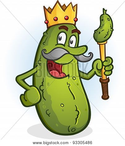 Pickle King Cartoon Character