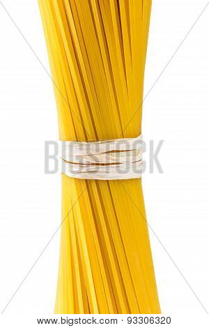 Italian Pasta Spaghetti Macaroni Isolated On White Background