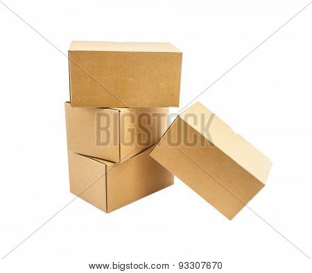 The Box On White Isolate Background.