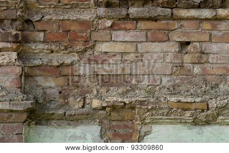 The brick texture with cracks and scratches