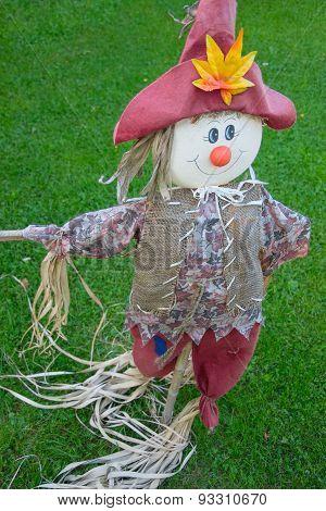 The garden scarecrow