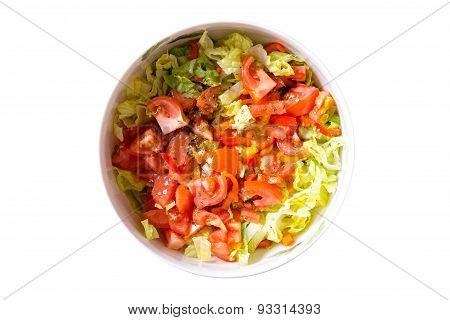 Gourmet Fresh Healthy Tomato And Cabbage Salad