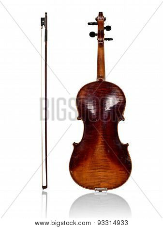 Violin And Bow Back View