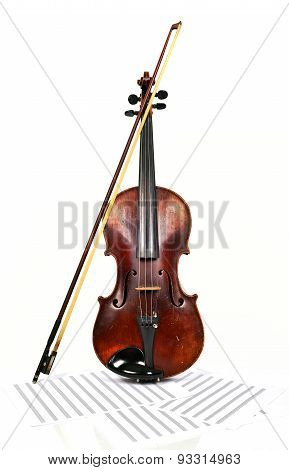 Old Violin And Notes