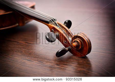 Violin Head On The Table