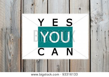 Yes you can motivational message