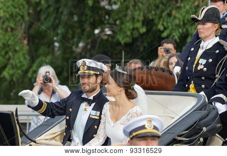 The Swedish Prince Carl-philip Bernadotte And His Wife