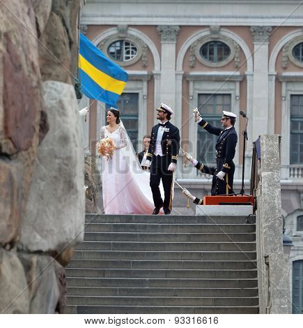 The Swedish Prince Carl-philip Bernadotte Above The Stairs