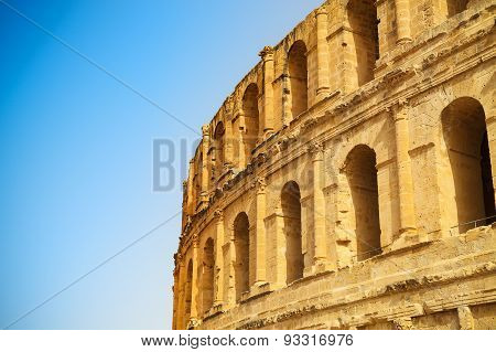 Ruins Of The Largest Colosseum In In North Africa. El Jem,tunisia