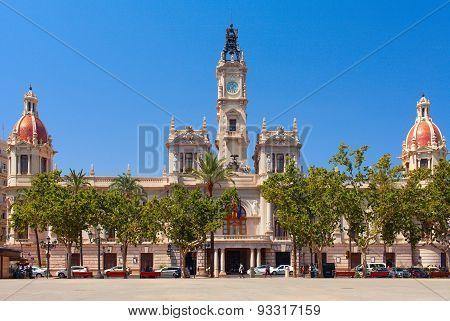 Placa del Ajuntament. Valencia, Spain.
