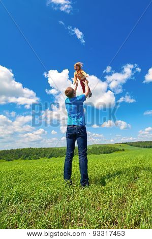 Father Throws Daughter Up In The Air