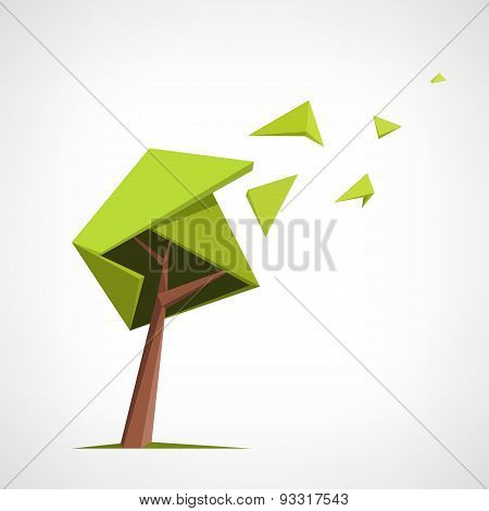 Conceptual polygonal tree.