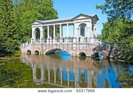 Tsarskoye Selo (Pushkin), Saint-Petersburg, Russia. The Marble Bridge