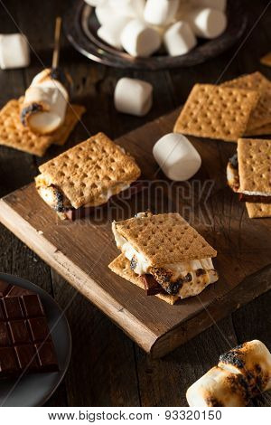 Homemade Gooey S'mores With Chocolate