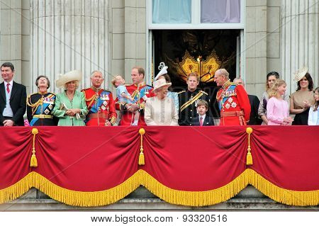 Trooping Of The Colour Balcony 2015