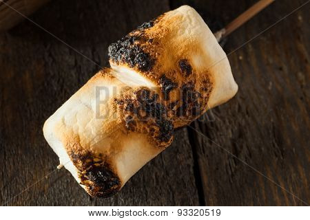 Charred And Roasted Marshmallows