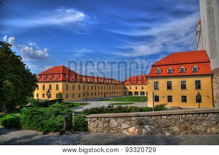 A fortress near the Bratislava castle in HDR
