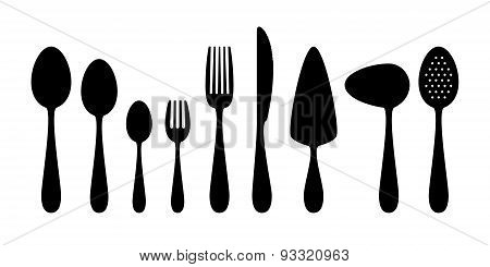 Set Of Flat Icons Cutlery