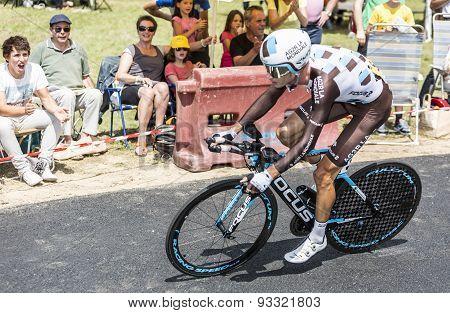 The Cyclist Mikael Cherel - Tour De France 2015