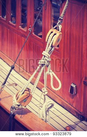 Vintage Style Wooden Yacht Equipment.