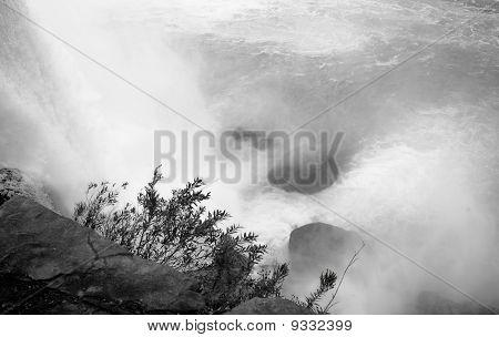 Niagara Falls Whirlpool in B&W